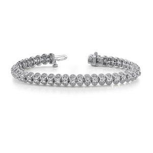 5.50 Carat Women Diamond Tennis Bracelet Round Cut